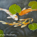 Koi Fish painting in Oil