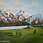 Mountain Retreat painting in Oil