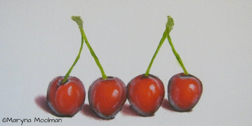 Juicies Cherries painting in Oil