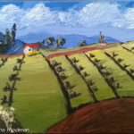 Olive Grove knife painting in Oil